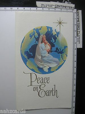 Peace on Earth - A Christmas Spiritual Bouquet - Vintage Greeting Card