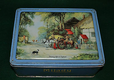 Vtg Waller & Hartley Toffee Tin Milady - Country Life In England