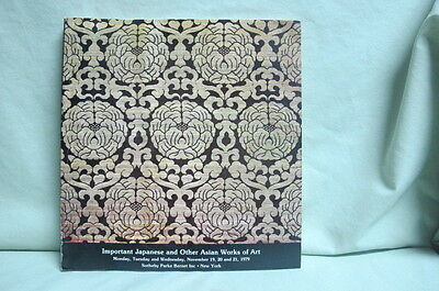 1979 Sotheby's Auction Catalog   Important Japanese and other Asian Works of Art