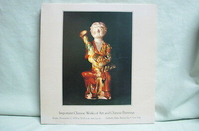 1979 Sotheby's Auction Catalog Important Chinese Works of Art & Chinese Painting