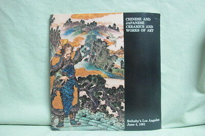 1981 Sotheby's Auction Catalog   Chinese & Japanese Ceramics Works of Art