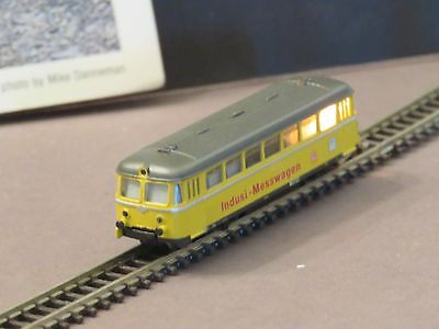 88021 Marklin  Z Scale Yellow Track Cleaning Rail Bus