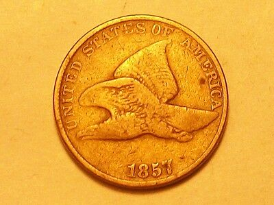 **1857  Flying Eagle Cent Old Scarce Coin **
