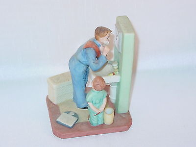 Norman Rockwell The Shaver Figurine 1986