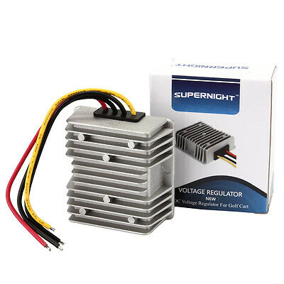 SUPERNIGHT GOLF CART Step-Down Voltage DC-DC 48V to 12V 10A Reducer Converter