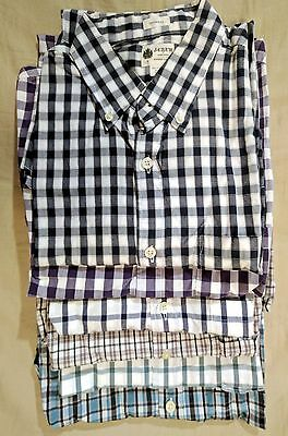 J.CREW Lot of 6 Men's Washed Casual Tailored Fit Long-Sleeve Shirts size Small S