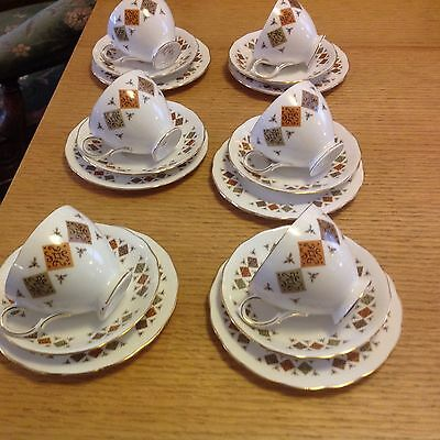 Colclough Fine Bone China Tea Trio - 4 Sets Available