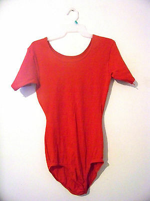 Womens Costume Gallery Red Leotard Size Adult X-Large