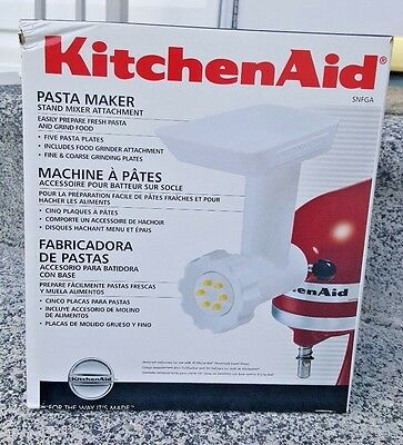 KitchenAid Pasta Maker and Grinder Stand mixer Attachment NEW SNFGA