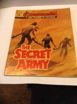 Commando War Comic Number 1176,1977 V Good For Age,40 Years Old Issue,v Rare.