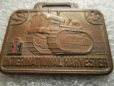 VINTAGE WATCH FOB iH  International Harvester older dozer without blade