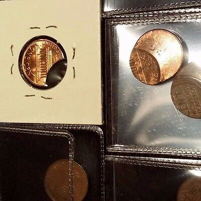 7 COIN LOT ! Lincoln Cent Error Off Center Clip Split before struck, indent 1c