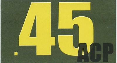 "Vinyl Ammo Can Magnet label "".45 ACP"" Bold"