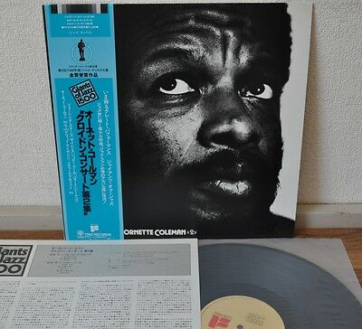 An Evening With Ornette Coleman 2 Japan LP 1979 Trio PA-9742 Freedom Insert Obi