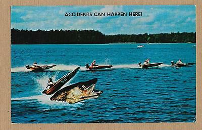 Accidents Can Happen Here~Speedboats~Exaggerated Musky Fish~G Brown Eau Claire~i