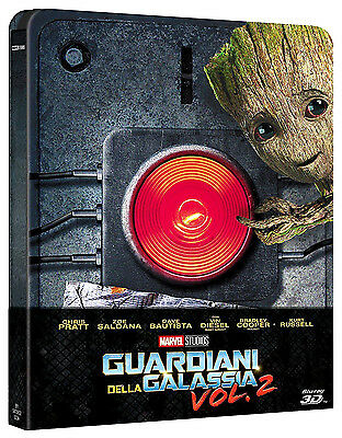 GUARDIANI DELLA GALASSIA 2 - STEELBOOK EDITION (BLU-RAY 3D + 2D) Chris Pratt