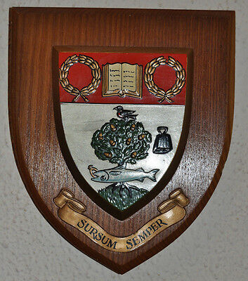 High School of Glasgow wall plaque shield coat of arms crest independent