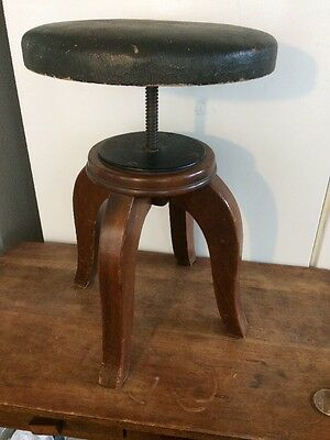 Vintage Adjustable Piano / Organ STOOL  13 inch seat