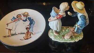 Norman Rockwell Four Seasons Spring BEGUILING BUTTERCUP First Edition w/ Plate