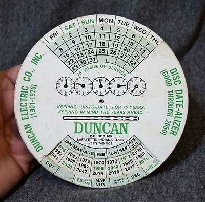 Duncan Electric Co. Lafayette Indiana Disc Date-Alizer Good Through 2050