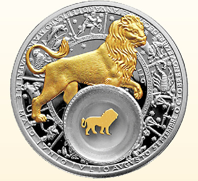 Belarus 2013 20 rubles Leo 28,28g Silver Proof Coin
