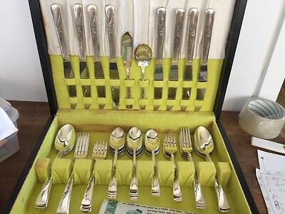 Setting For Eight 50 Pieces Revelation Silverplate  By Meriden Silver Plate Co.