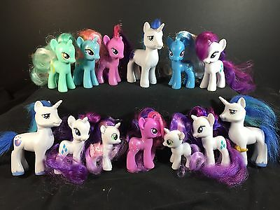MY LITTLE PONY - Mixed Lot of 13 Unicorn Ponies - Boy Doubles White Toys