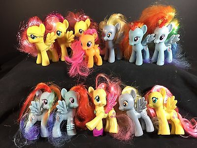MY LITTLE PONY - Mixed Lot of 12 Pegasus Ponies - Jointed Legs Toys