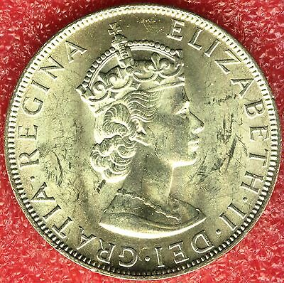 Bermuda 1 Crown 1964 Big Silver Coin