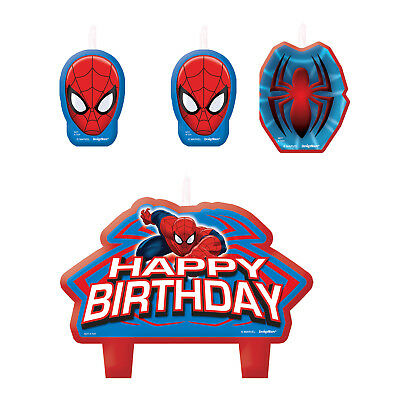 Spiderman Party Birthday Cake Candle Set
