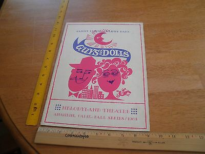 Guys and Dolls Betty Grable Melodyland Theater 1963 play program Hugh O'Brian