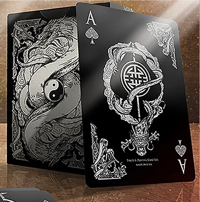Bicycle Middle Kingdom (Black) Playing Cards Deck Printed by US Playing Card Co
