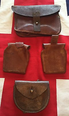 Original WW1 British Leather Pouches P'08 P'14 P'03