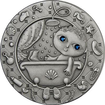 Belarus 2009 20 Rubles Zodiac Signs - Aquarius 28.28g Silver Coin with Zircons