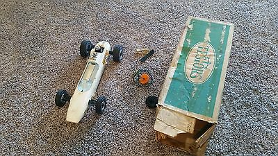 "1960s TESTORS BOXED GAS POWERED 13"" SPRITE OPEN WHEEL INDY RACE CAR RACER 221-50"