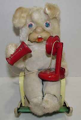 Modern Toys Telephone Rabbit Battery Operated Toy, Japan