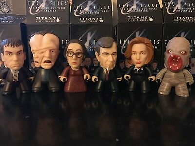 The X FilesTitans -Lot of 6 Scully.,Cig Man,Flukeman. Tooms, Phyllis,Mutato