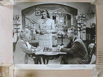 Esther Williams with Dick Simmons original chess photo 1947 This Time for Keeps