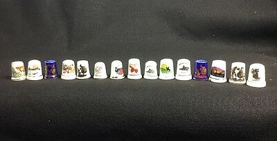 Lot Of 15 Vintage Collectible Thimbles