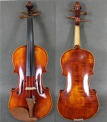 Beautiful Solid Wood 3/4 Hand Made & Varnished Violin / Free Bow & Case