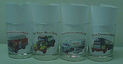 Hess Toy Truck Glasses 4 w/ Cards Complete Set
