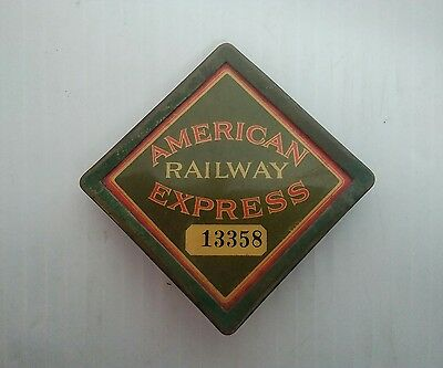 Antique American Railway Express Co. Messenger Badge Number 13358. Circa 1920's