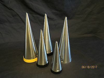 Gense Sweden Mid-century Modern Salt Pepper Sugar Shakers Stainless Steel, 5 pcs