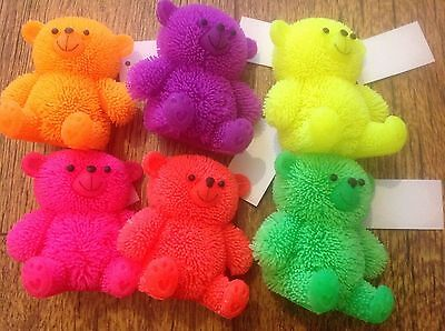 sensory Light up Flashing Puffer Teddy Bears autism party bag fillers 4 6 or 12