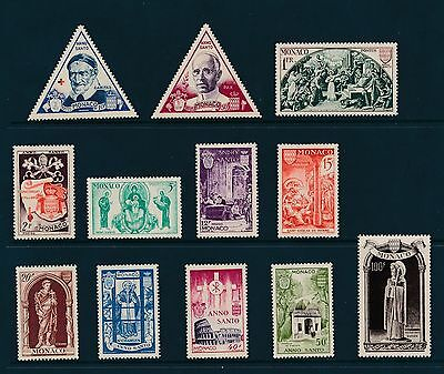 Monaco 262-73 1951 Holy Year NH  except 100F cat. value $74