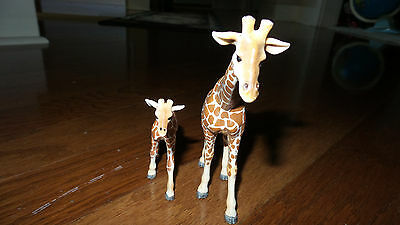 Schleich LOT ANIMALS BABY MOM Giraffe figures mother and calf