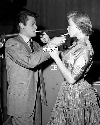 Janet Leigh and Tony Curtis Star in Model Wife on the CBS Radio Program Photo
