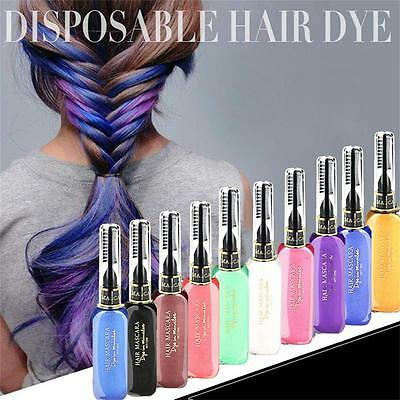 NEW Temporary Color Hair Dye Mascara Hair Chalk Non-toxic Hair Dye Salon DIY