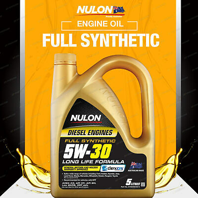 Nulon Full Synthetic 5W-30 Diesel Engine Oil 5L For FORD Mondeo MA 2.0L Diesel