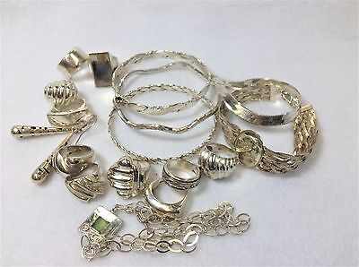 Vintage Sterling Silver Wholesale Lot / 17 Items / Many Hand Crafted